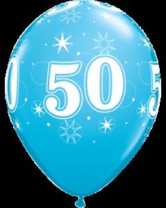 50 Sparkle Fashion Robins Egg Blue Latexballon Rund 11in/27.5cm