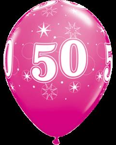 50 Sparkle Fashion Wild Berry Latexballon Rund 11in/27.5cm