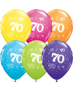 70 Tropical Sortiment Latexballon Rund 11in/27.5cm