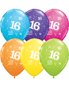 16 Tropical Sortiment Latexballon Rund 11in/27.5cm