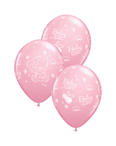 Me To You - Tiny Tatty Teddy Baby Girl Standard Pink Latexballon Rund 11in/27.5cm