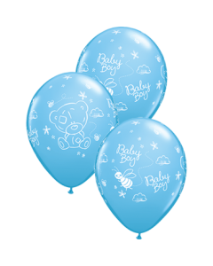 Me To You - Tiny Tatty Teddy Baby Boy Standard Pale Blue Latexballon Rund 11in/27.5cm