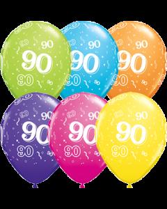 90 Tropical Sortiment Latexballon Rund 11in/27.5cm