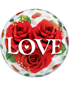 Love Roses Air Bubble 12in/30cm