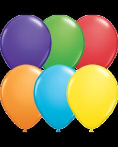 Bright Rainbow Sortiment Latexballon Rund 5in/12.5cm
