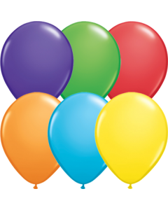 Bright Rainbow Sortiment Latexballon Rund 11in/27.5cm