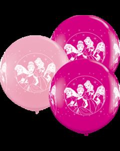 Disney Princesses Standard Pink und Fashion Wild Berry Sortiment Latexballon Rund 36in/90c,