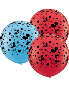 Disney Mickey Mouse Standard Red und Standard Pale Blue Sortiment Latexballon Rund 36in/90cm