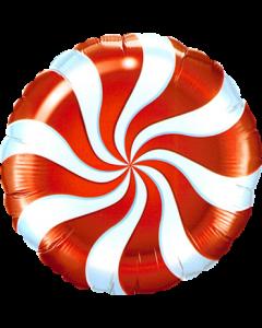 Candy Swirl Red Folienform Rund 9in/22.5cm