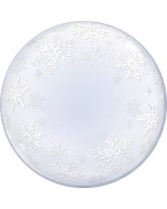 Deco Bubble Frosty Snowflakes 24in/60cm