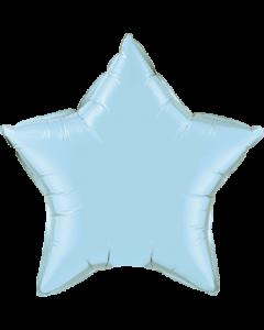 Pearl Light Blue Folienform Stern 9in/22.5cm
