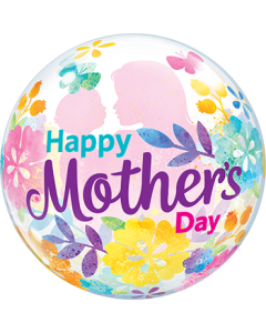 Mothers Day Silhouette Single Bubble 22in/50cm