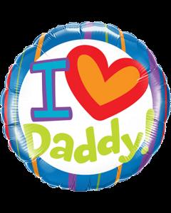 I (Heart) Daddy! Folienform Rund 18in/45cm