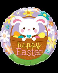 Happy Easter Bunny Folienform Rund 18in/45cm