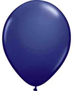 Fashion Navy Latexballon Rund 16in/40cm