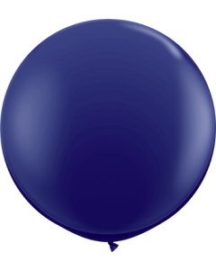 Fashion Navy Latexballon Rund 36in/90cm