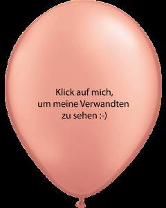 Metallic Rose Gold Latexballon Rund 11in/27.5cm