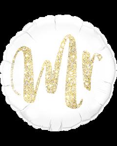 Mr Glitter Gold Folienform Rund 18in/45cm