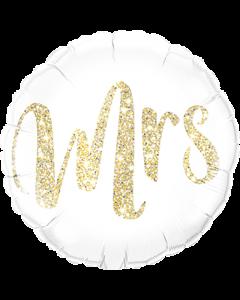 Mrs Glitter Gold Folienform Rund 18in/45cm