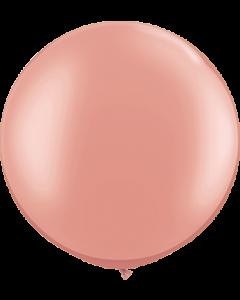 Metallic Rose Gold Latexballon Rund 30in/75cm
