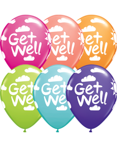 Get Well Sunshine Retail Sortiment Latexballon Rund 11in/27.5cm