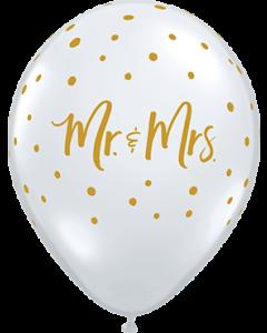 Mr & Mrs Dots Crystal Diamond Clear (Transparent) Latexballon Rund 11in/27.5cm