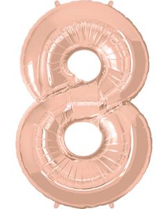 8 Rose Gold Folienzahlen 34in/86cm