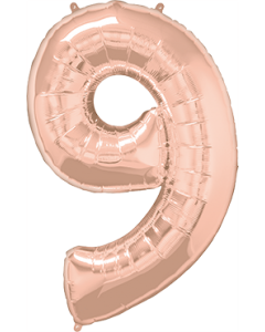 9 Rose Gold Folienzahlen 34in/86cm