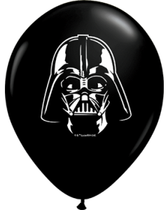Darth Vader Face Fashion Onyx Black Latexballon Rund 5in/12.5cm