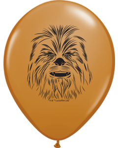 Chewbacca Face Fashion Mocha Brown Latexballon Rund 5in/12.5cm