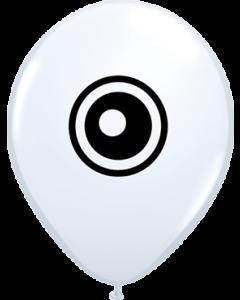 Eyeballs Standard White Latexballon Rund 5in/12.5cm
