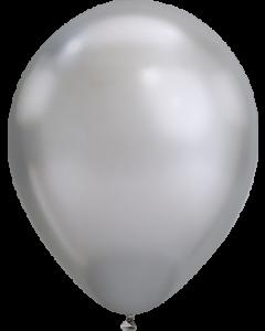 Chrome Silver Latexballon Rund 11in/27.5cm