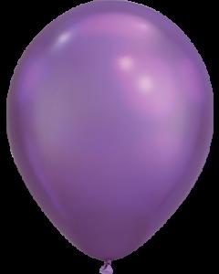 Chrome Purple Latexballon Rund 11in/27.5cm