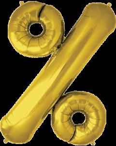 % Gold Folienbuchstaben 34in/86cm