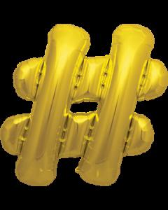 # Gold Folienbuchstabe 16in/40cm