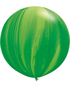 Green Rainbow SuperAgate Latexballon Rund 30in/75cm