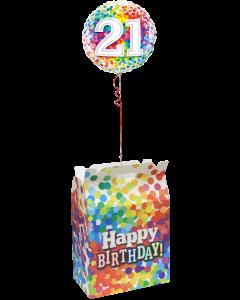 Birthday Confetti Balloon Box 38cm x 32,2cm x 38,5cm