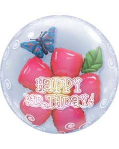 Birthday Flower Double Bubble 24in/60cm
