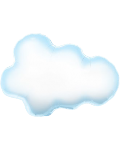 Puffy Cloud Folienfiguren 30in/76cm
