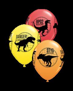 Jurassic World: Fallen Kingdom Standard Red, Standard Yellow and Standard Orange Sortiment Latexballon Rund 11in/27.5cm