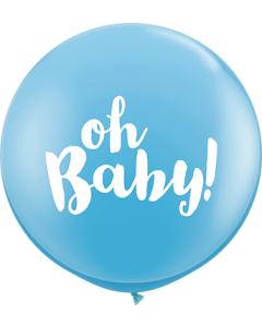 Oh Baby! Standard Pale Blue Latexballon Rund 36in/90cm