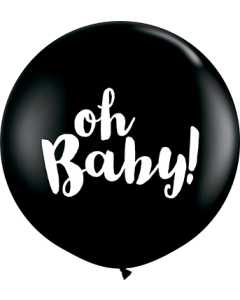 Oh Baby! Fashion Onyx Black Latexballon Rund 36in/90cm