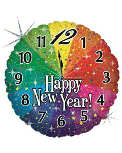 New Year Countdown Holographic 18in/45cm