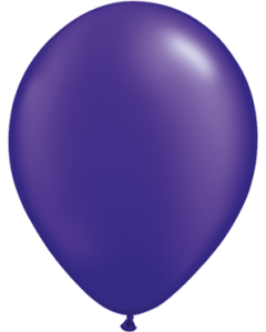 Pearl Quartz Purple Latexballon Rund 16in/40cm