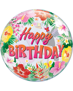 Tropical Birthday Party Single Bubble 22in/55cm