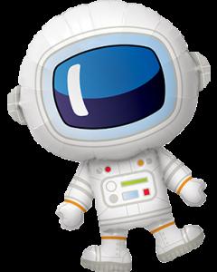 Adorable Astronaut Folienfiguren 37in/94cm