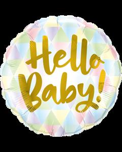 Hello Baby! Folienform Rund 18in/45cm