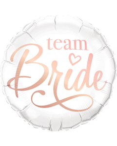 Team Bride Folienform Rund 18in/45cm