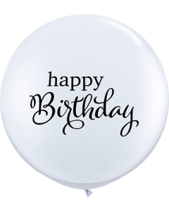 Simply Happy Birthday Standard White Latexballon Rund 36in/90cm