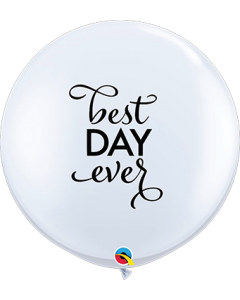 Simply The Best Day Ever Standard White Latexballon Rund 36in/90cm